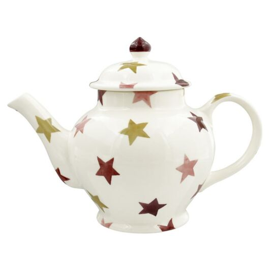 Pink & Gold Stars Three Mug Teapot
