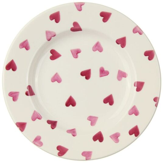 Pink Hearts 8½ inch Plate