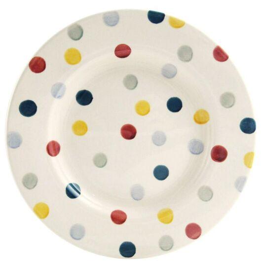 Polka Dot 8 1/2 Inch Plate