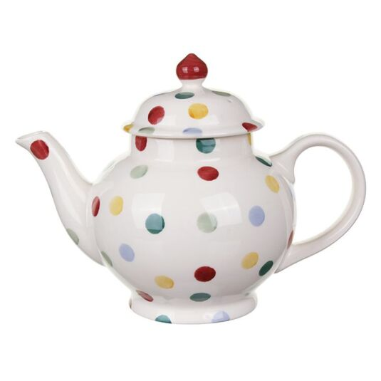Polka Dot Four Mug Boxed Teapot