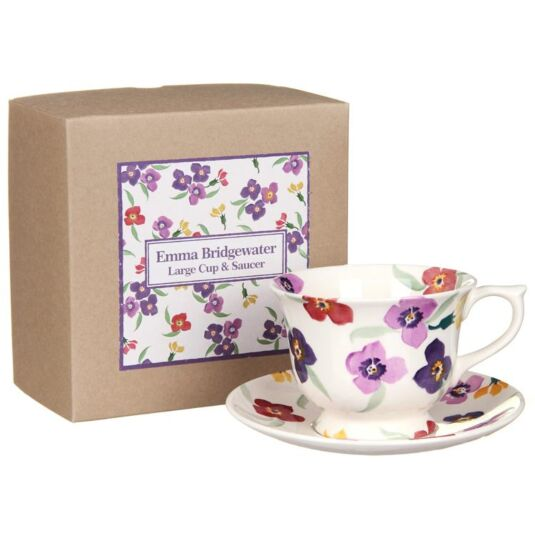 Wallflower Large Boxed Teacup and Saucer