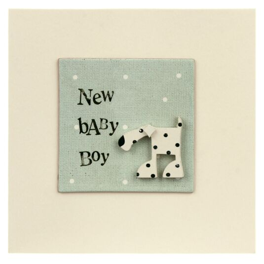 New Baby Boy Animal Card