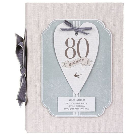 Personalised 80 Heart Photo Album
