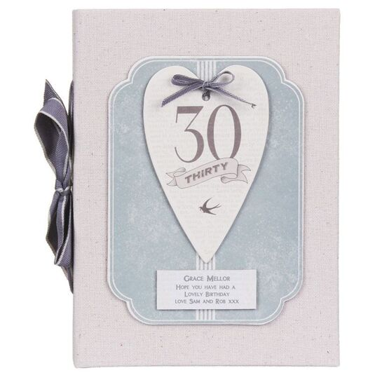Personalised 30 Heart Photo Album