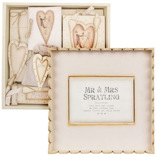 Personalised Wedding Gift India : East of India Personalised Wedding Box Gift Set Temptation Gifts