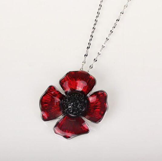 Delicate Poppy Pendant