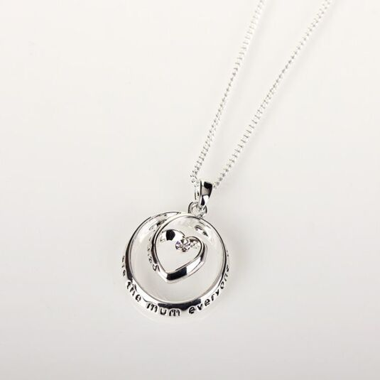 Heart in Circle Mum Necklace