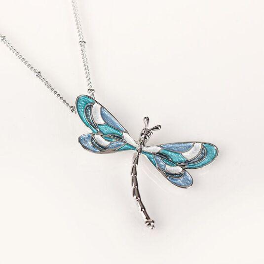 Marine Tones Dragonfly Necklace