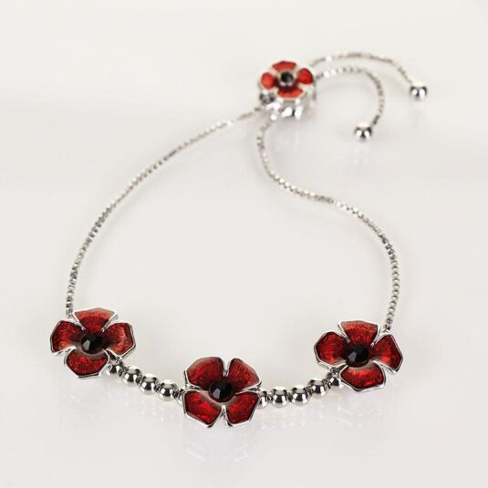 3 Poppies Friendship Bracelet