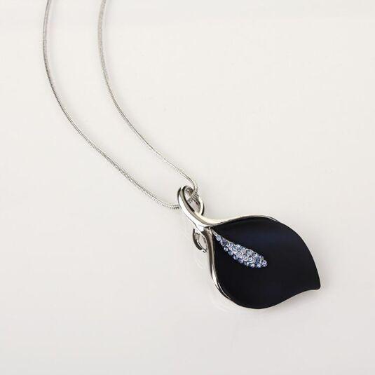 Blue Calla Lily Necklace