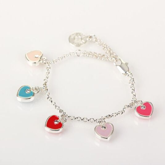 Girls Heart Charm Bracelet