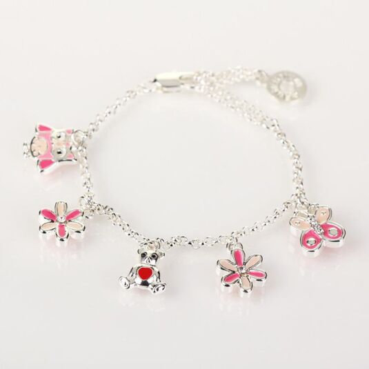 Girls Multi Charm Bracelet