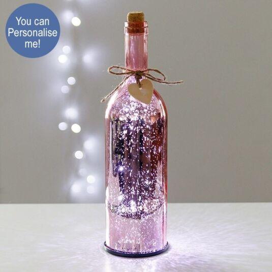 Pink LED Firefly Bottle
