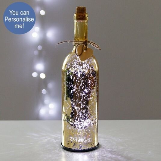 Gold LED Firefly Bottle