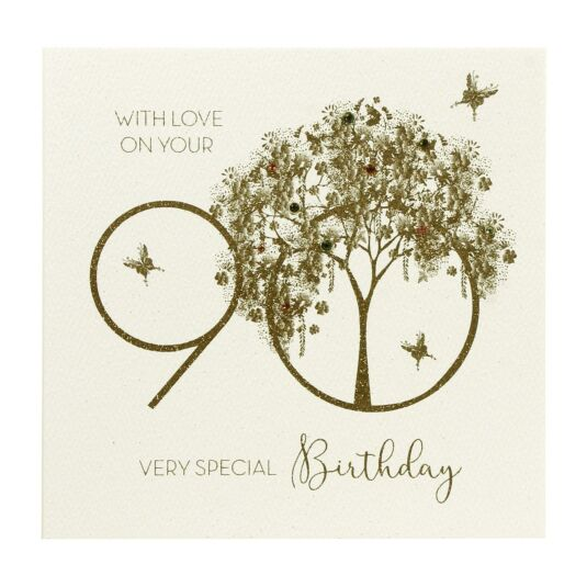 90 With Love Birthday Card