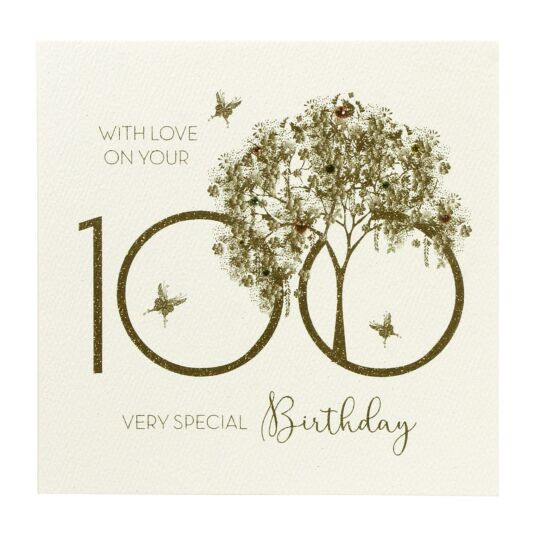 100 With Love Birthday Card