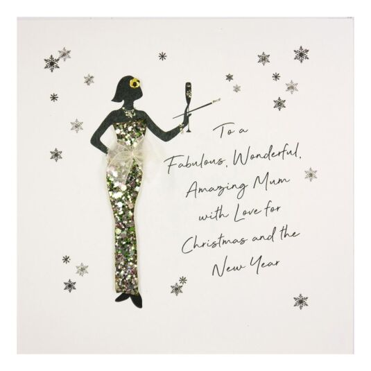'To A Fabulous, Wonderful Mum' Christmas Card