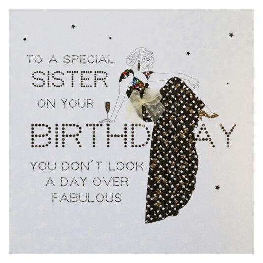 Diamonds in the Sky Special Sister Birthday Card
