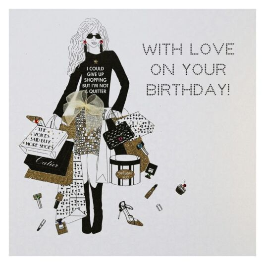 Diamonds in the Sky With Love on Your Birthday Card