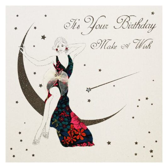 Moonbeams & Butterflies It's Your Birthday. Make a Wish Card