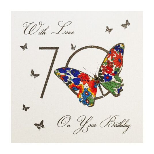 Moonbeams & Butterflies 70 - With Love On Your Birthday Card