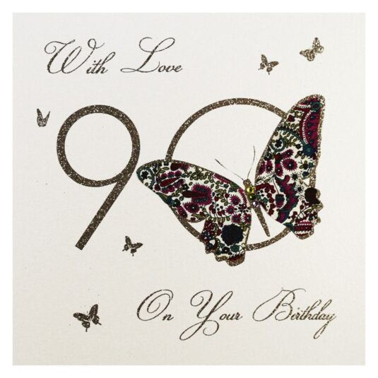 Moonbeams & Butterflies 90 - With Love On Your Birthday Card