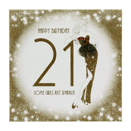 21 - Some Girls Sparkle Birthday Card