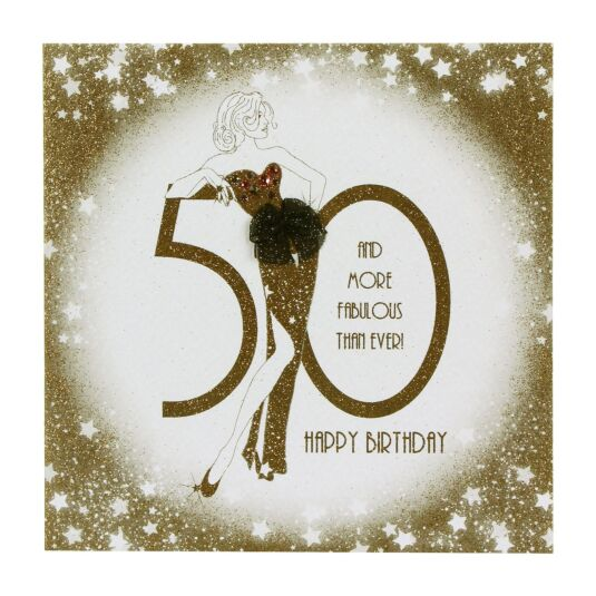 50 And More Fabulous Birthday Card
