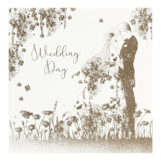 Wedding Day Gold Glitter Card