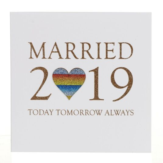 Married in 2019 Card