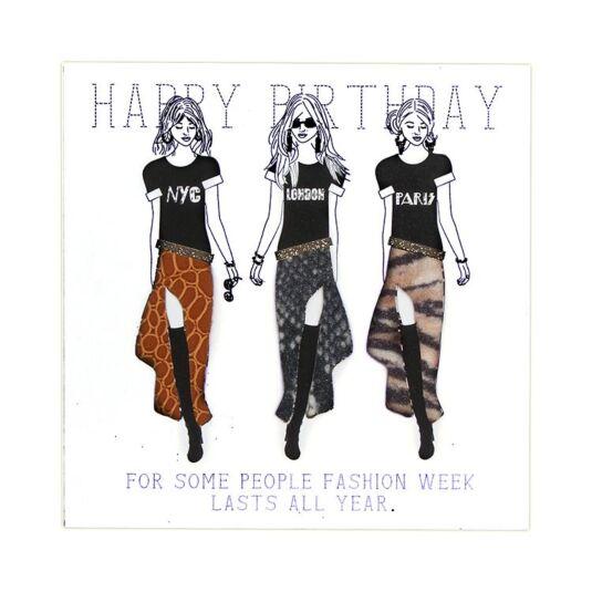 Happy Birthday Fashion Lasts all Year Card