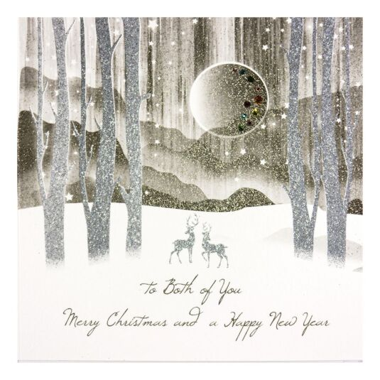 'To Both Of You' Forest Christmas Card