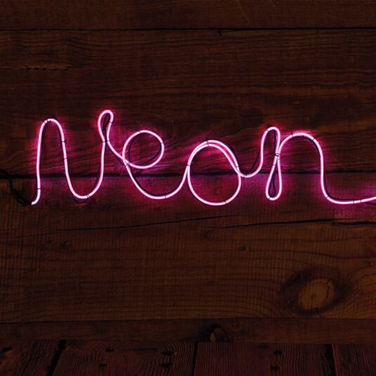 Make Your Own Neon Effect Sign – Pink