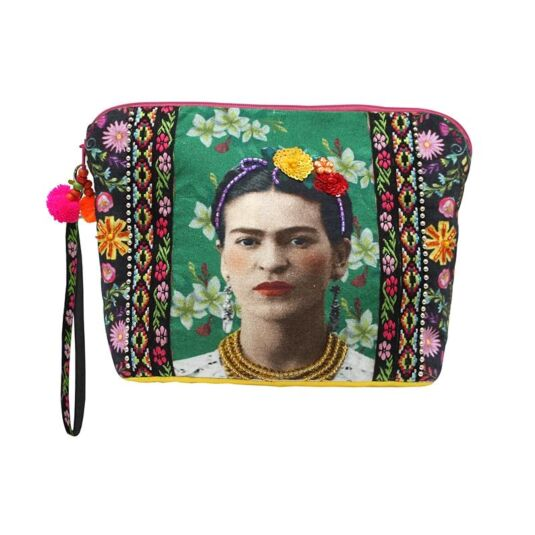Frida Kahlo Embroidered Photo Pouch