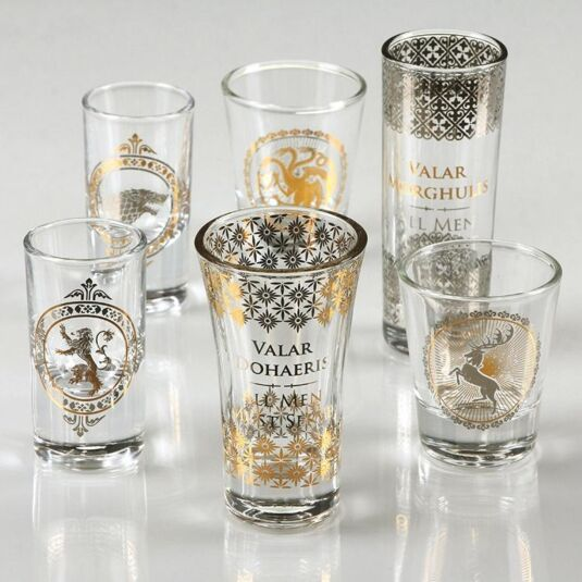 74309312d03e Game of Thrones Set of Six Premium Collectable Shot Glasses ...