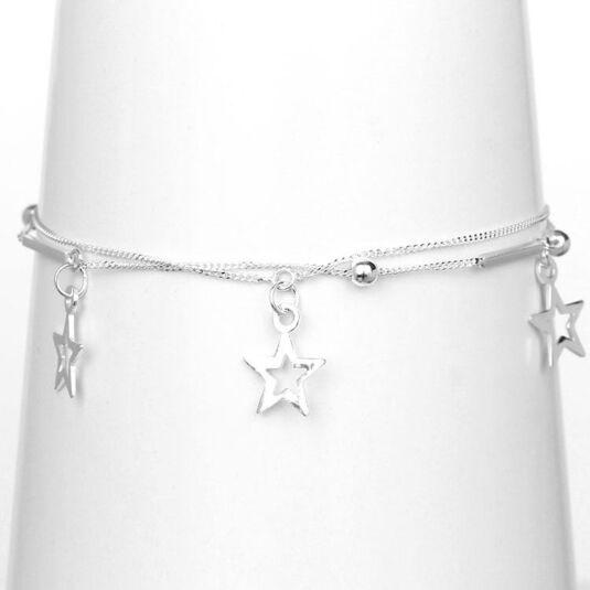 Star Charm Boxed Silver Bracelet