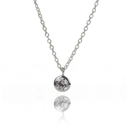 Clear CZ Necklace