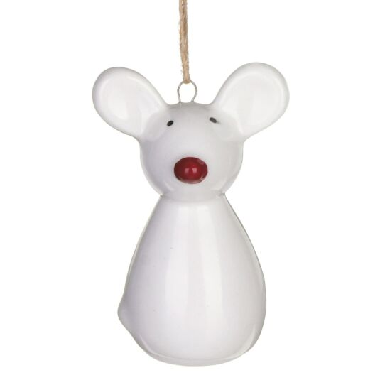 Ceramic Mouse Christmas Tree Decoration
