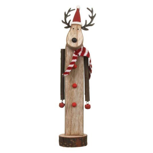 Assorted Wooden Reindeer Christmas Decoration