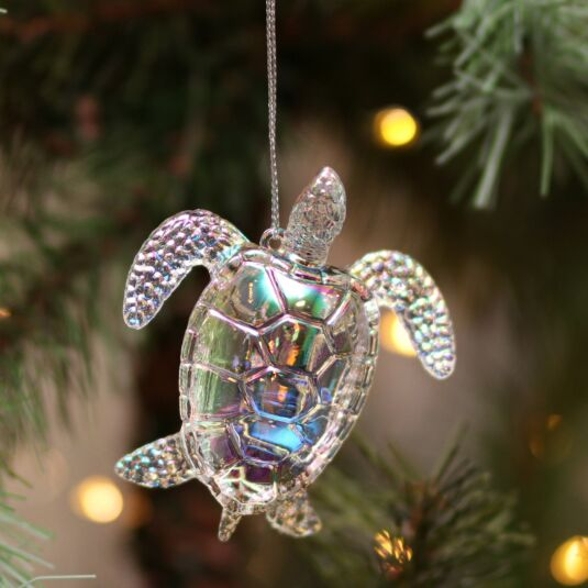 Rainbow Acrylic Turtle Tree Decoration