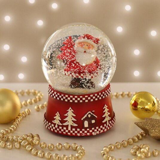 Scandinavian Santa Snow Globe