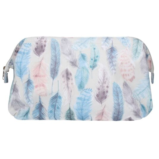 Pastel Feathers Washbag