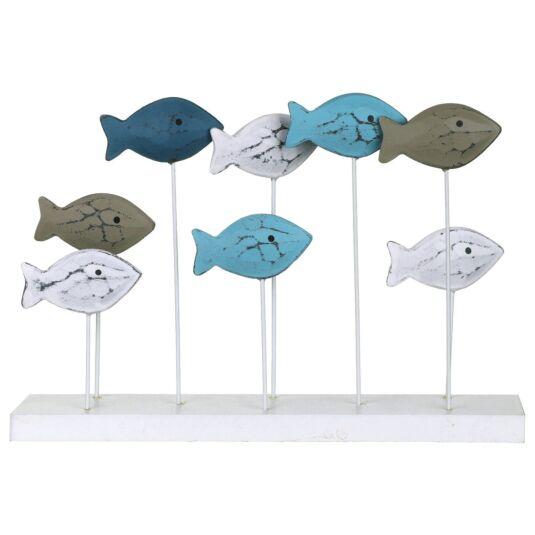 Large Fish Shoal Wooden Ornament