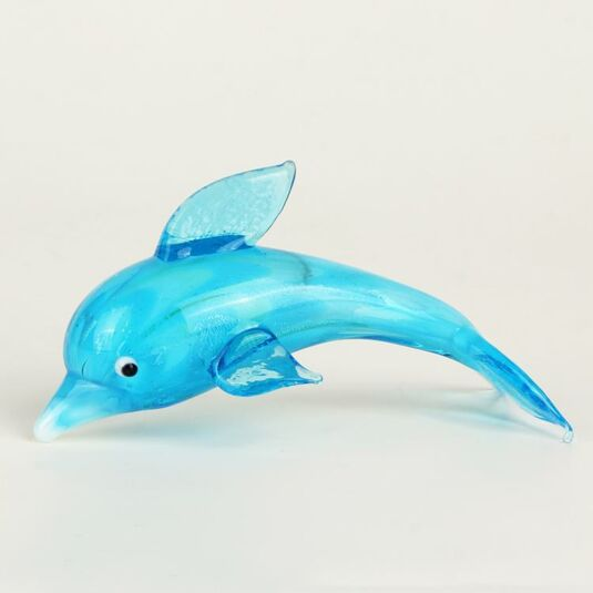 Glass Animal Blue Dolphin