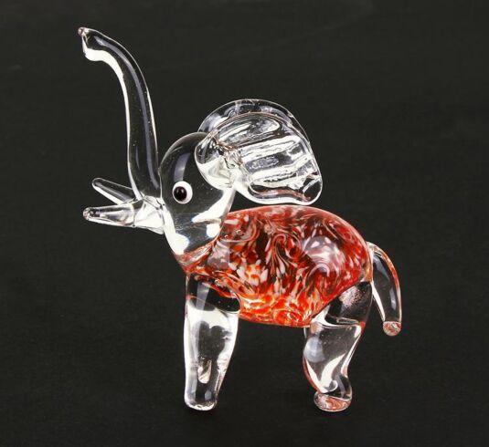 Glass Animal Orange Elephant