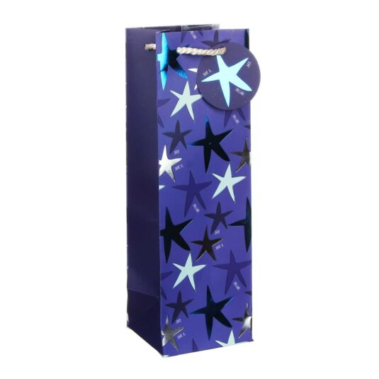 Stars Blue Bottle Bag