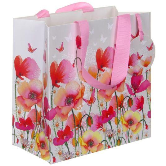 Pizazz Poppies Medium Gift Bag