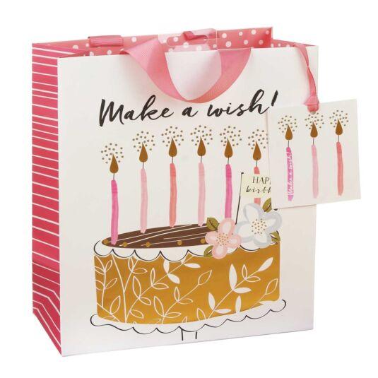 Happy Birthday Make A Wish Medium Gift Bag