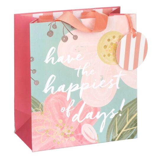 Happiest Of Days Floral Medium Gift Bag