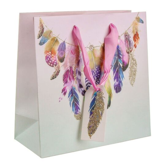 Pizazz Feathers Medium Gift Bag